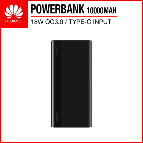 Huawei CP11QC 18W Fast Charge QC3.0 10000mAh Quick Charge Powerbank (Type-C input) Black