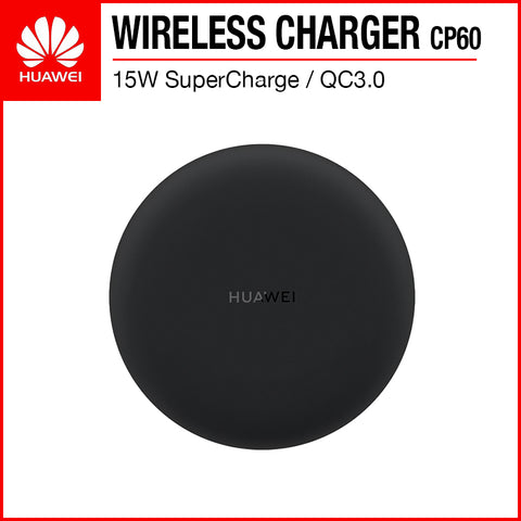 Huawei CP60 SuperCharge 15W/10W/7.5W/5W QC3.0 Fast Charging Wireless Charger Black