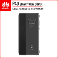 Huawei P40 Smart View Flip Cover Black