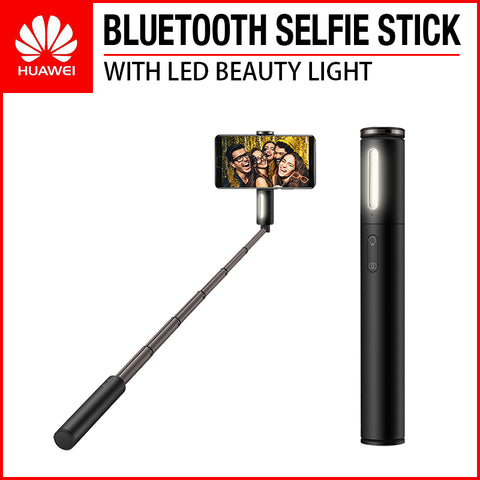 HUAWEI CF33 Bluetooth Selfie Stick with LED Beauty Light Black