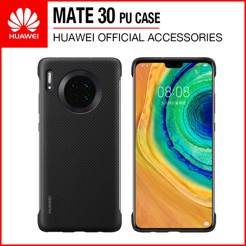 Huawei Mate 30 PU Case Black