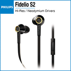 Philips Fidelio S2 Hi-Res Headphones with Mic Black