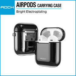 Rock Airpods / New AirPods Carrying Case Electroplating Black RPC1483