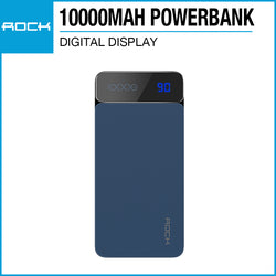Rock P38 Powerbank with Digital Display 10000mAh Blue