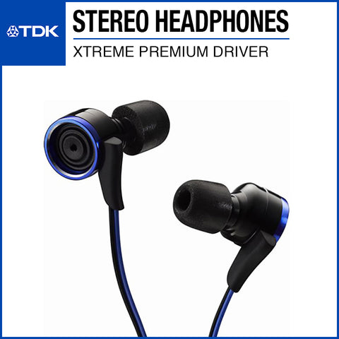 TDK CLEF-X Xtreme Premium Stereo Earphone TH-XEC300 Blue