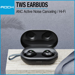 Rock EB80 TWS ANC Active Noise Canceling True Wireless Stereo Bluetooth 5.0 Earbuds RAU0659