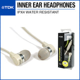 TDK SP400 Active Weather-Resistant Earphones Cream