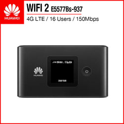 Huawei WIFI 2 4G Mobile WiFi Hotspot Mifi Router 16 Users 150Mbps E5577Bs-937
