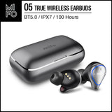 Mifo O5 TWS Bluetooth Stereo Earbuds True Wireless Earbuds Bluetooth 5.0 IPX7 Passive Noise Cancelling Gray Pro Version