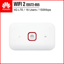 HUAWEI WIFI 2 4G LTE Mobile WiFi Hotspot Mifi Router 16 Users 150Mbps E5572-855