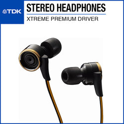 TDK CLEF-X Xtreme Premium Stereo Earphone TH-XEC300 Gold