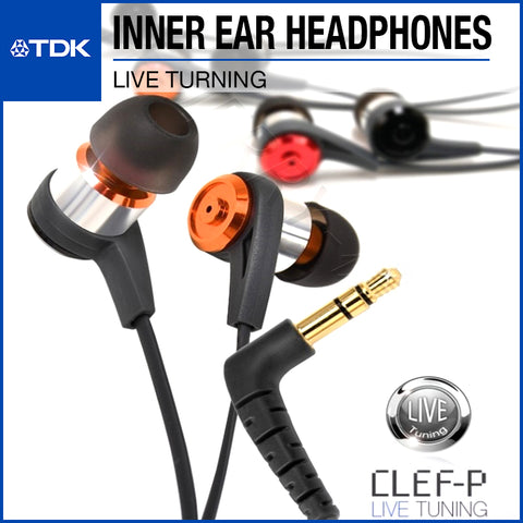 TDK CLEF-P2 Live Tuning In-Ear Headphones TH-PLEC300 Orange