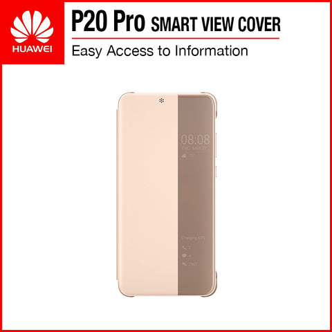 Huawei P20 Pro Smart View Flip Cover Pink