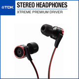 TDK CLEF-X Xtreme Premium Stereo Earphone TH-XEC300 Red