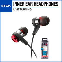 TDK CLEF-P2 Live Tuning In-Ear Headphones TH-PLEC300 Red