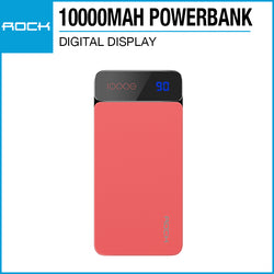 Rock P38 Powerbank with Digital Display 10000mAh Red