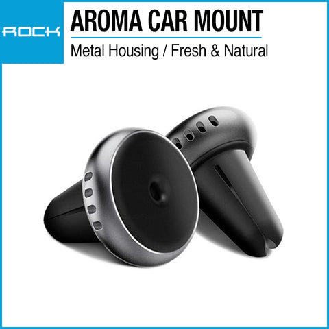 Rock Universal Air Vent Magnetic Car Mount (Aroma) Silver RPH0833