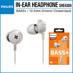 Philips SHE4305 In-ear Headphones with Mic White