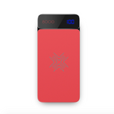 Rock P38 Wireless Charging Power Bank with Digital Display 8000mAh Red