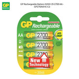 GP NIMH AA Rechargeable Battery 2600mAh 4pcs