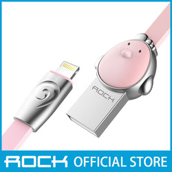Rock Chinese Zodiac Lightning Flat Data Cable 1M Chicken Pink RCB0503