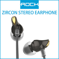 Rock Zircon Stereo Earphone Black