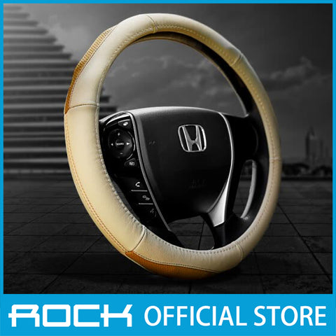 Rock Car Steering Wheel Cover Cream RPH0859