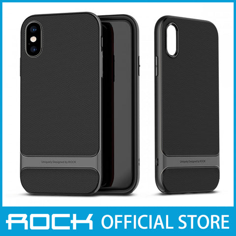 Rock Royce Series Protective Shell Case for iPhone XR Gray RPC1434