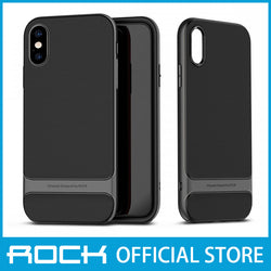 Rock Royce Series Protective Shell Case for iPhone X/XS Gray RPC1433