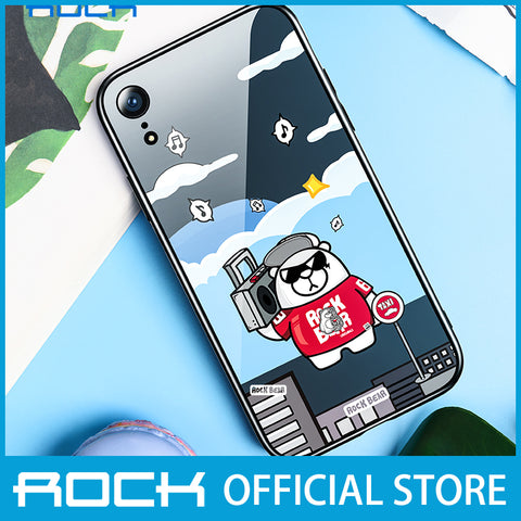 Rock Glass Protection Case for iPhone XR Music Bear RPC1456