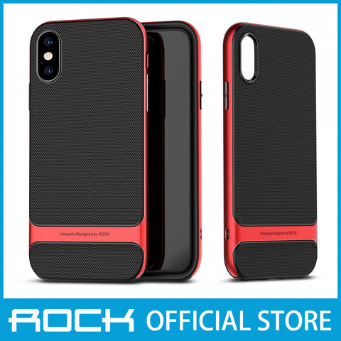 Rock Royce Series Protective Shell Case for iPhone X/XS Red RPC1433