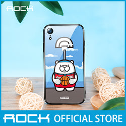 Rock Glass Protection Case for iPhone XR Basketball Bear RPC1456