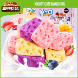 Three Squirrels Yogurt Cube Mango 三只松鼠 芒果酸奶块 54g