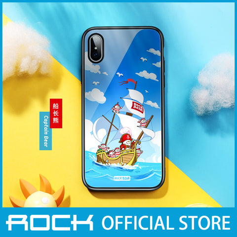 Rock Glass Protection Case for iPhone X/XS Captain Bear RPC1455