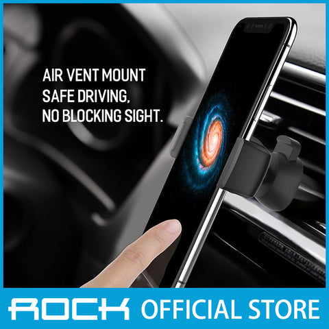 Rock Deluxe Car Vent Phone Holder II Gray