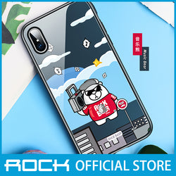 Rock Glass Protection Case for iPhone X/XS Music Bear RPC1455