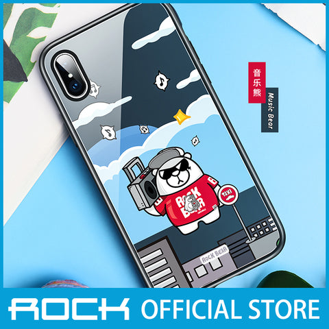 Rock Glass Protection Case for iPhone XS Max Music Bear RPC1457