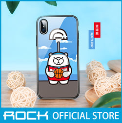 Rock Glass Protection Case for iPhone X/XS Basketball Bear RPC1455