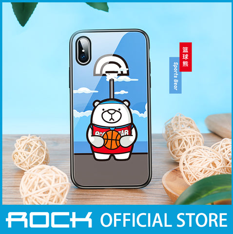 Rock Glass Protection Case for iPhone XS Max Basketball Bear RPC1457