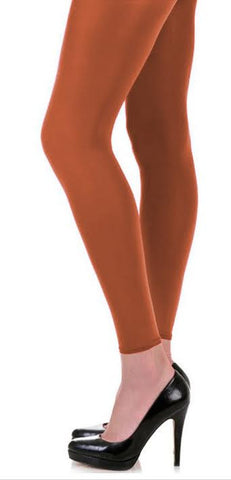 Solid Orange Opaque Footless