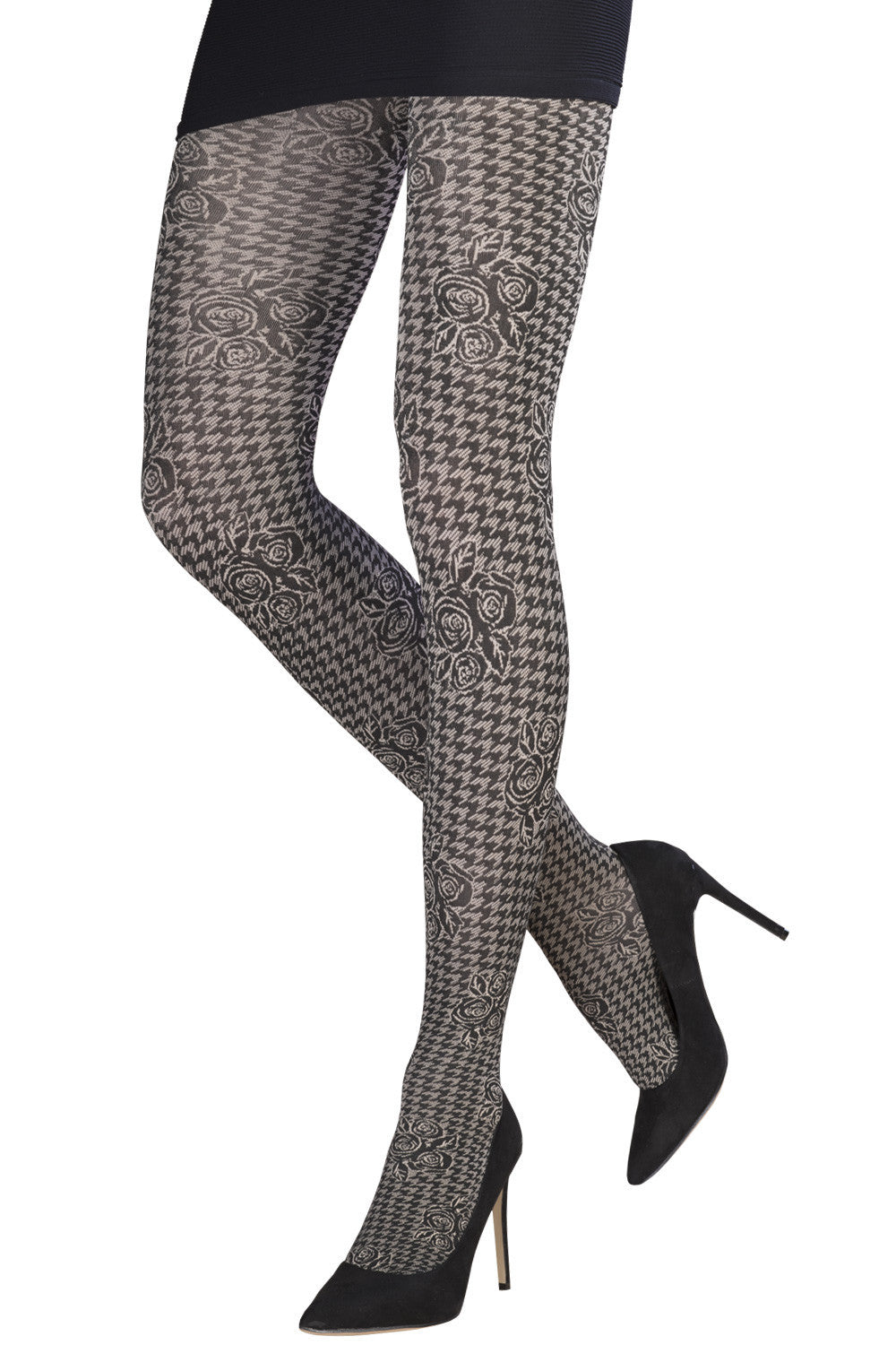 Geometric Lace Jacquard Tights