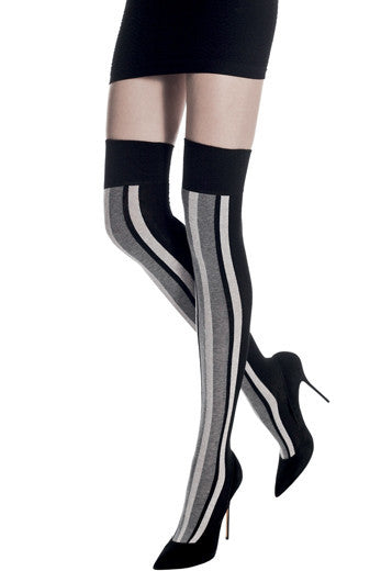Cotton Striped Over Knee