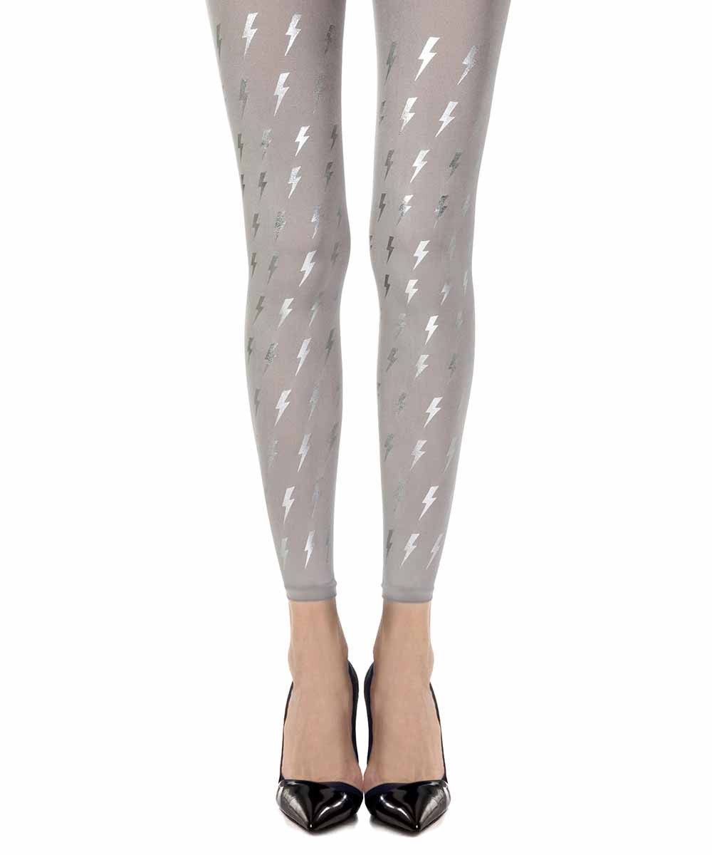 David Bowie Grey Footless Tights