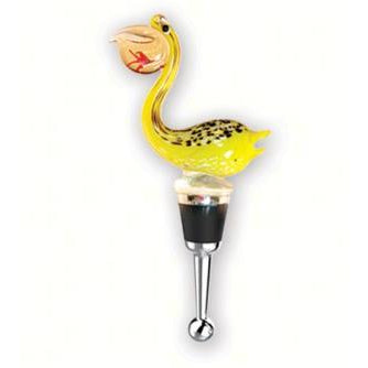Pelican Glass Wine Bottle Stopper Gift Box