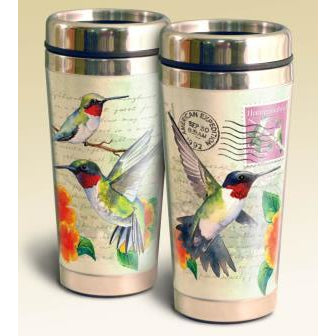 Hummingbird Postcard Steel Travel Mug