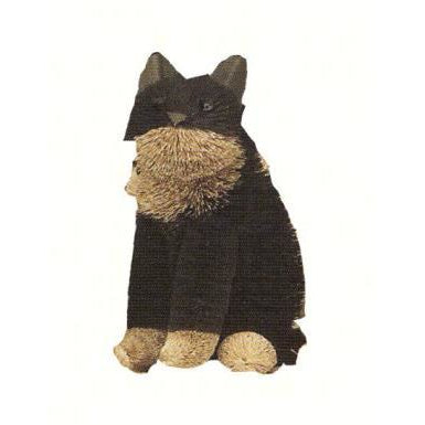 Cat Black Sitting 12 inch