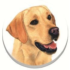 Yellow Lab Car Coaster