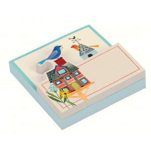 Avian Friends Birdhouse Shaped Memo Pad