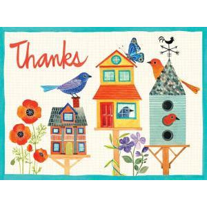 Avian Friends Birdhouse Embellished Thank You Notes