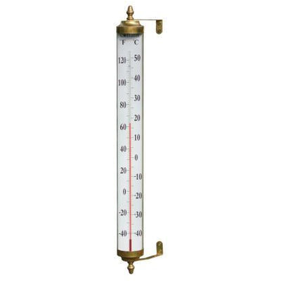 24 inch Thermometer Living Finish Brass